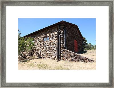 Stallion Barn At Historic Jack London Ranch In Glen Ellen Sonoma California 5d24580 Framed Print by Wingsdomain Art and Photography