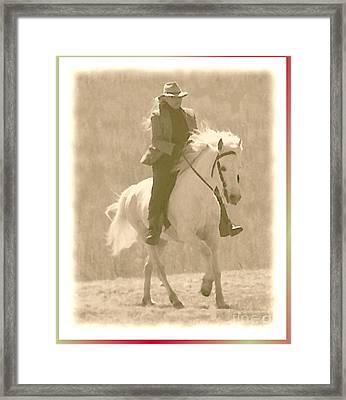 Stallion Strides Framed Print by Patricia Keller