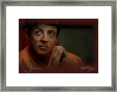 Stallone Framed Print by Mark Gallegos