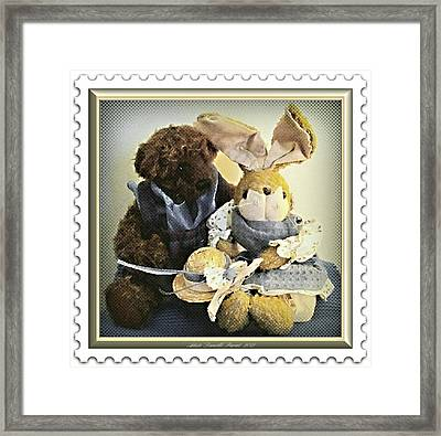 Stamped Toys Framed Print by Danielle  Parent