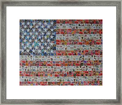 Stamps And Stripes Renegade Colony Framed Print by Gary Hogben