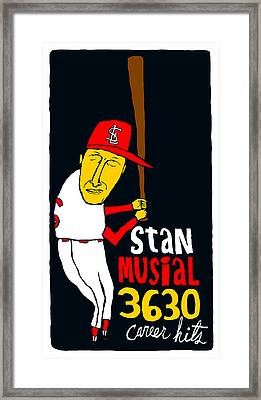 Stan Musial St Louis Cardinals Framed Print by Jay Perkins