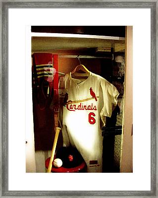 Stan The Man's Locker Stan Musial Framed Print by Iconic Images Art Gallery David Pucciarelli