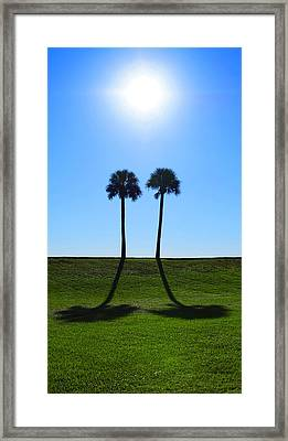 Stand By Me - Palm Tree Art By Sharon Cummings Framed Print by Sharon Cummings