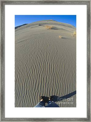 Stand Here Framed Print by Chris Selby