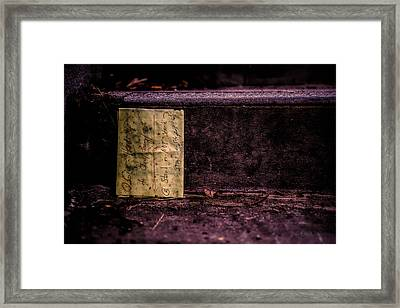 Stand Or Not Stand Framed Print by Bob Orsillo