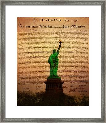 Stand Up For Freedom Framed Print by Bill Cannon