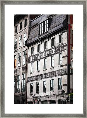 Standard Paper Framed Print by John Rizzuto