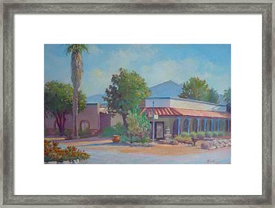 Standin' On The Corner In Tubac Arizona Framed Print by John Marbury