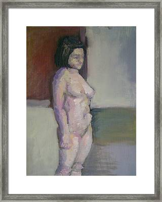Standing Figure Framed Print by Cynthia Harvey