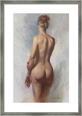 Standing Nude I Framed Print by Anna Rose Bain