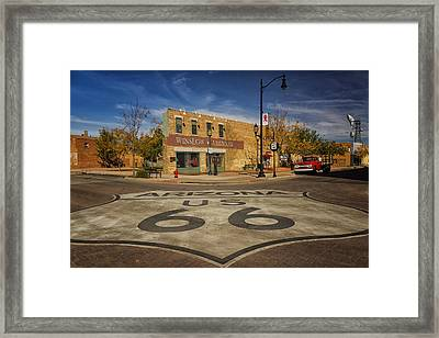 Standing On The Corner In Winslow Arizona Dsc08854 Framed Print by Greg Kluempers