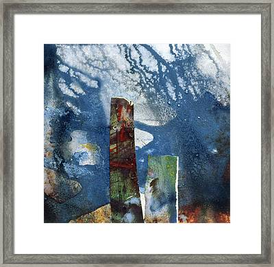 Standing Stones II Framed Print by Gloria Wallington