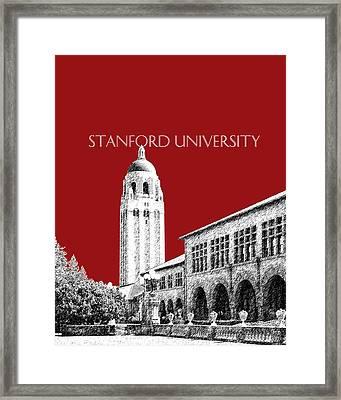 Stanford University - Dark Red Framed Print by DB Artist