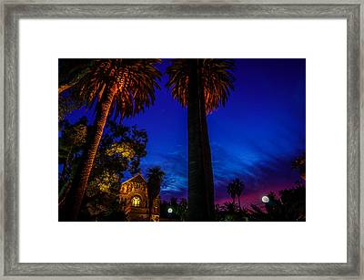 Stanford University Memorial Church At Sunset Framed Print by Scott McGuire