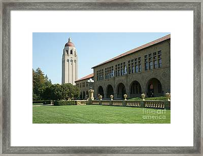 Stanford University Palo Alto California Hoover Tower Dsc685 Framed Print by Wingsdomain Art and Photography