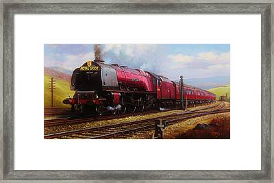 Stanier Pacific On Shap. Framed Print by Mike  Jeffries