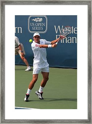 Stanislas Wawrinka Framed Print by James Marvin Phelps