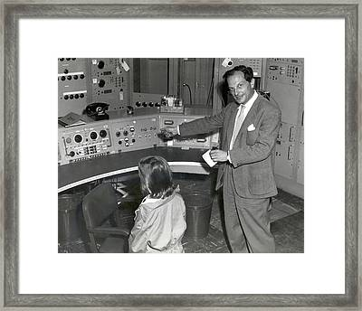 Stanislaw Ulam At Maniac Panel Framed Print by American Philosophical Society