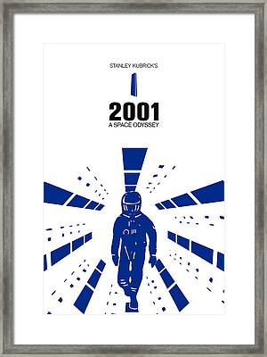 Stanley Kubrick 2001 A Space Odyssey Movie Poster Framed Print by Kevin Trow