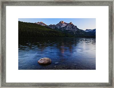 Stanley Lake Sunset Framed Print by Vishwanath Bhat