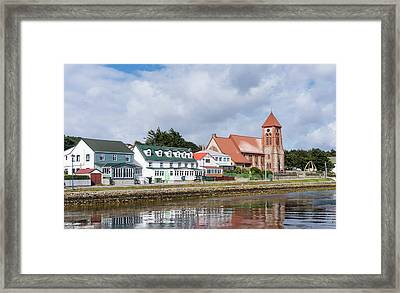 Stanley, The Capital Of The Falkland Framed Print by Martin Zwick