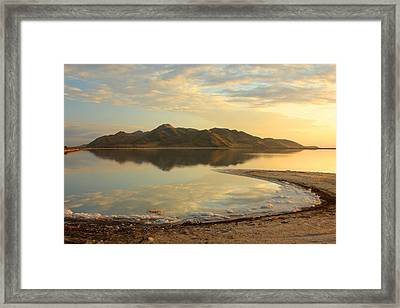 Stansbury Island On The Great Salt Lake Framed Print by Johnny Adolphson