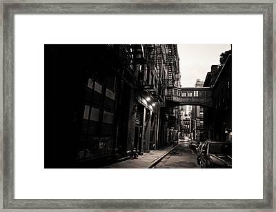 Staple Street - Tribeca - New York City Framed Print by Vivienne Gucwa