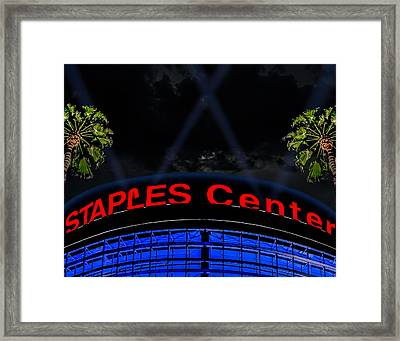 Staples Center - Downtown Los Angeles Framed Print by Brian Yasumura Jr