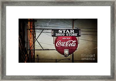 Star Drug Store 2 Framed Print by Perry Webster