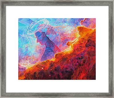 Star Dust Angel Framed Print by Julie Turner