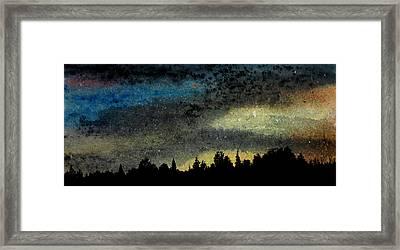 Star Filled Sky Framed Print by R Kyllo