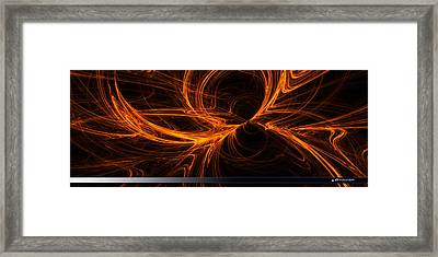 Star Fire One Framed Print by ADX ThreeD
