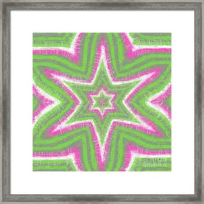 Star Flower Framed Print by Methune Hively