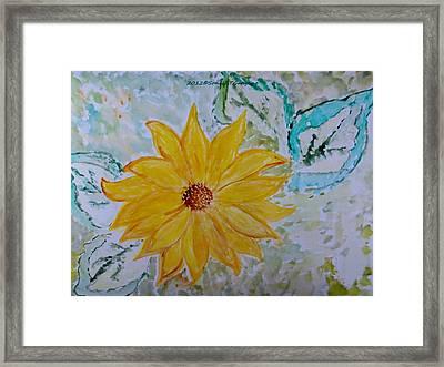 Star Flower Framed Print by Sonali Gangane