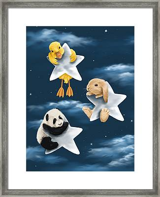 Star Games Framed Print by Veronica Minozzi