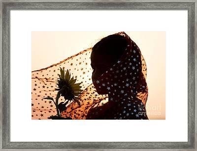 Star Girl  Framed Print by Tim Gainey