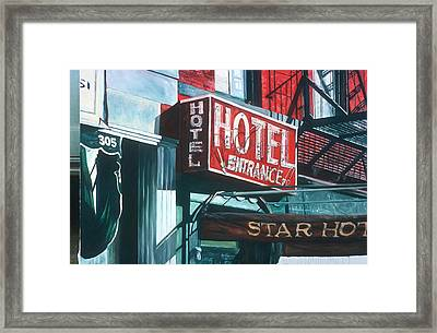 Star Hotel Framed Print by Anthony Butera