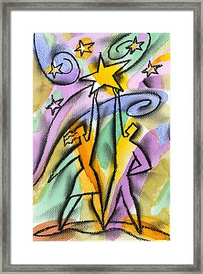Star Framed Print by Leon Zernitsky