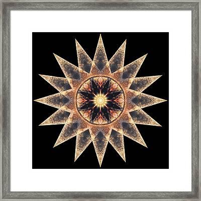 Star Mandala Framed Print by Filippo B