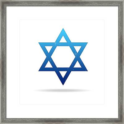 Star Of David Framed Print by Aged Pixel