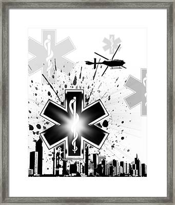 Star Of Life Framed Print by Melissa Smith