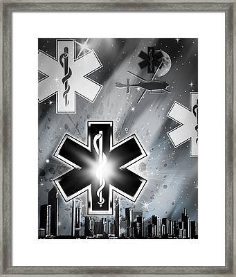 Star Of Life Night Framed Print by Melissa Smith