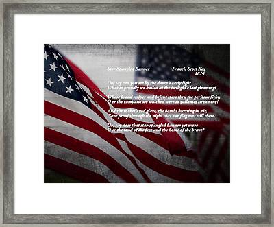 Star Spangled Banner  Framed Print by Ella Kaye Dickey