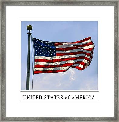 Star Spangled Banner Of The United States Framed Print by Daniel Hagerman