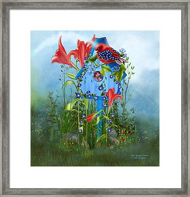 Star Spangled Birdie Framed Print by Carol Cavalaris