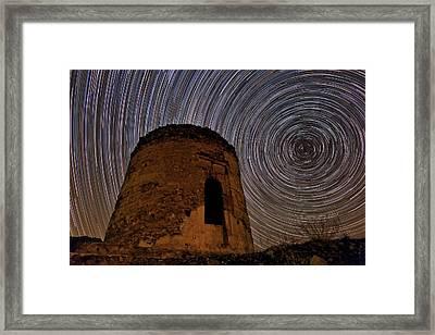 Star Trails Over Alborz Mountains Framed Print by Babak Tafreshi