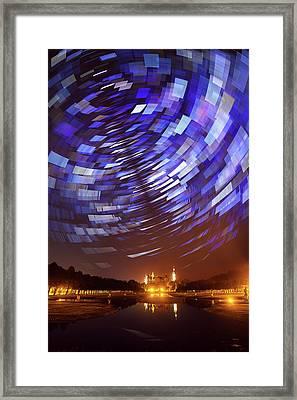 Star Trails Over Schwerin Palace Framed Print by Babak Tafreshi