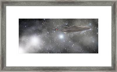 Star Trek - Approaching The Neutral Zone Framed Print by Jason Politte