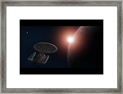 Star Trek Framed Print by Ian Merton